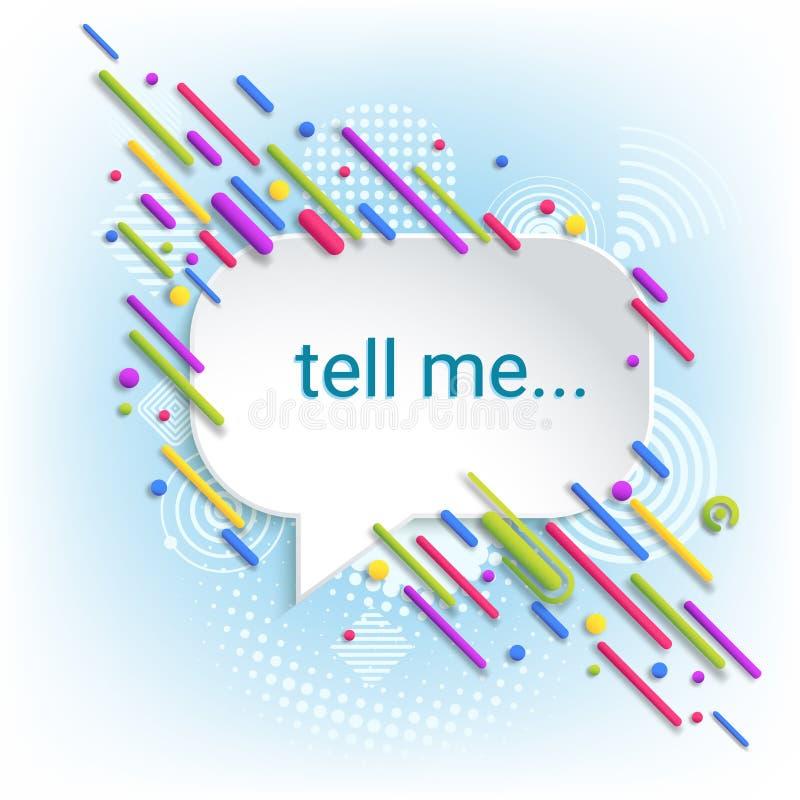 Bolle di discorso Finestra di dialogo astratta Modello per la comunicazione, annunciante autoadesivo illustrazione di stock