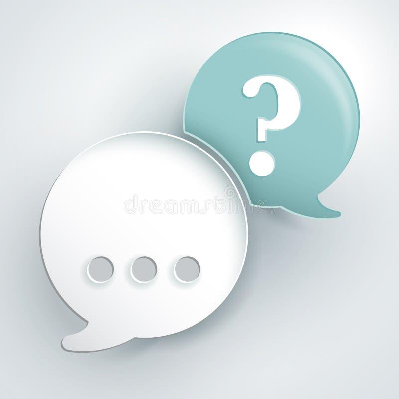 Bolle di domanda e di risposta illustrazione vettoriale