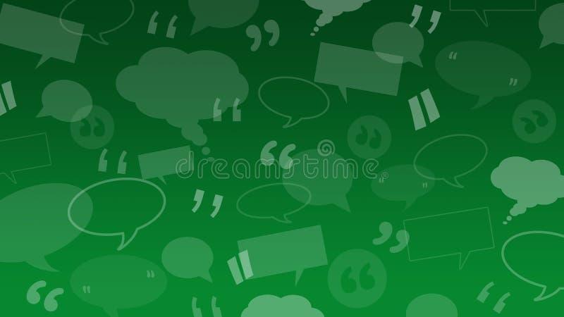 Bolle di pensiero e di discorso con i segni di citazione adatti come illustrazione del fondo per le testimonianze clienti/del cli royalty illustrazione gratis