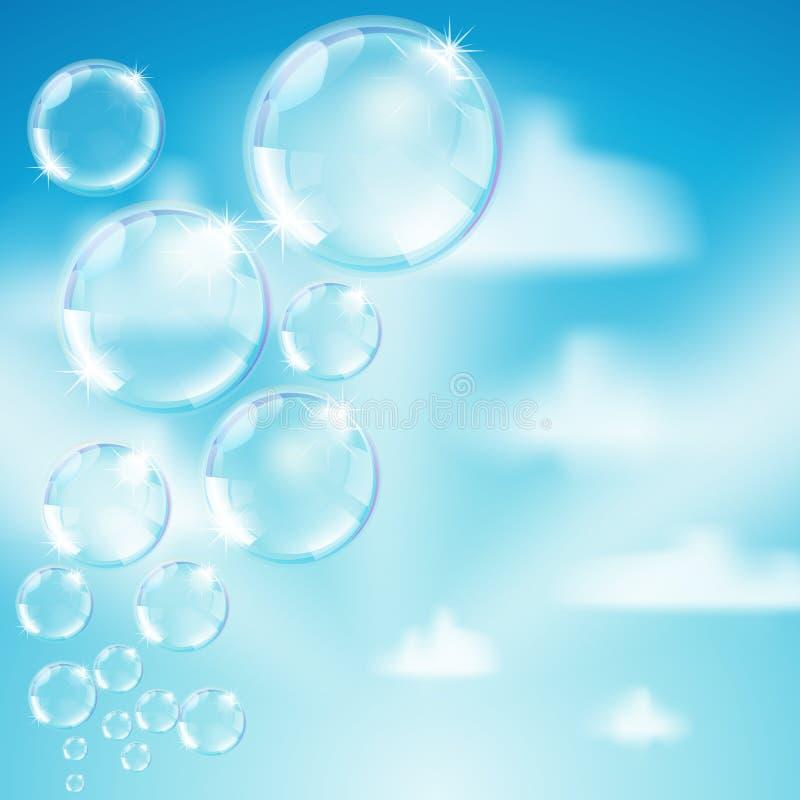Bolle di sapone illustrazione di stock