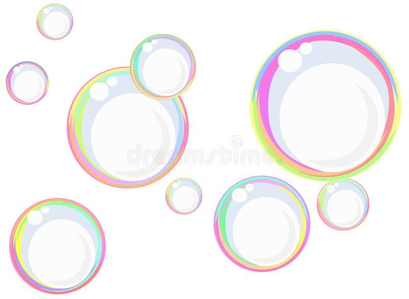 Bolle di sapone del Rainbow royalty illustrazione gratis
