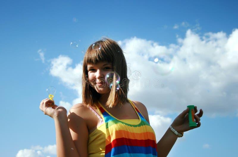 Bolle di sapone di estate fotografia stock