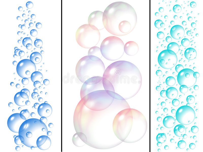 Bolle di sapone e dell'acqua illustrazione vettoriale