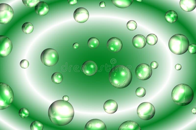 Bolle e turbinio verdi fotografie stock libere da diritti