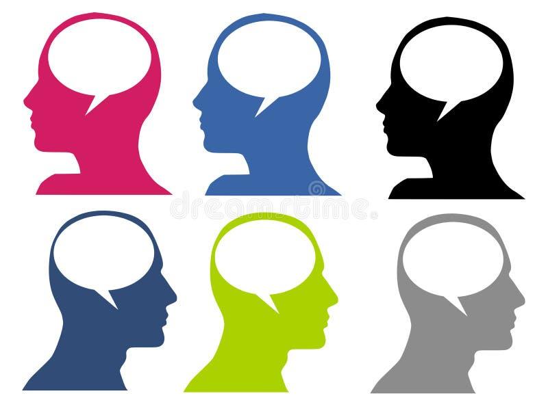 Bolle interne di dialogo illustrazione di stock