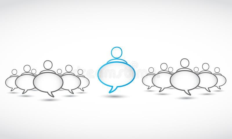 Bolle sociali di discorso della rete illustrazione di stock
