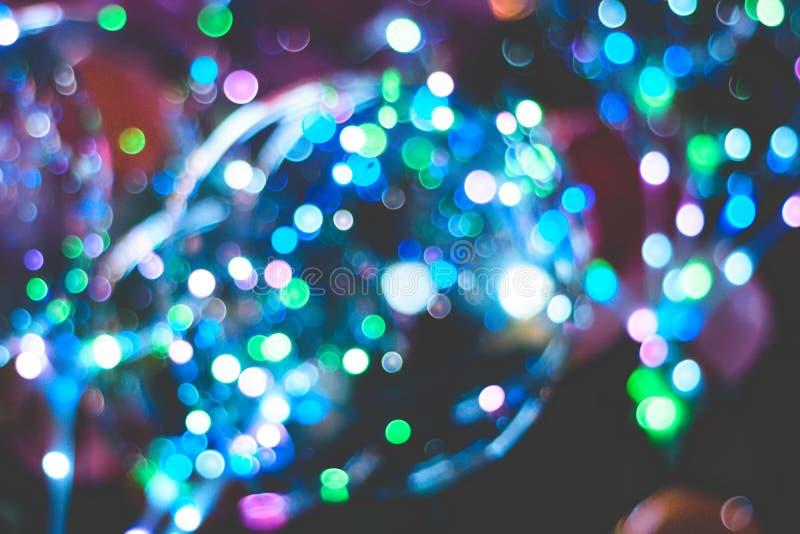 Bolle vaghe della superficie Fondo del bokeh di Natale immagini stock