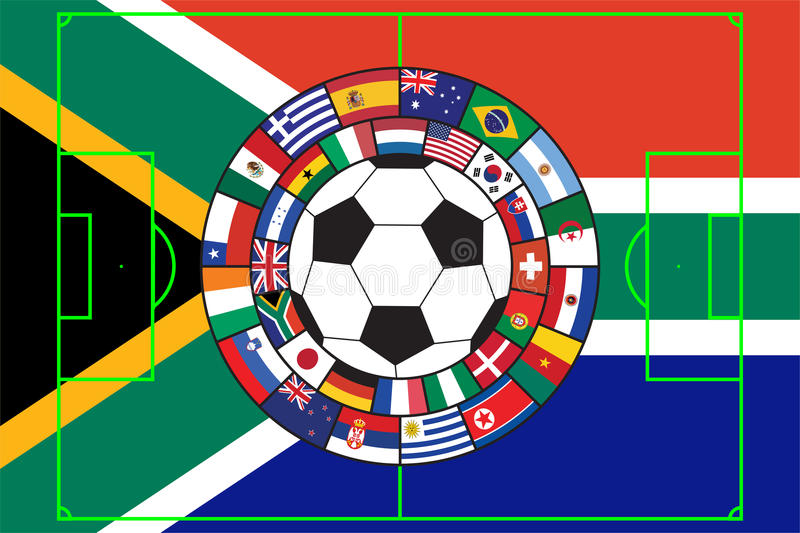 bollen flags fotbollvektorn stock illustrationer