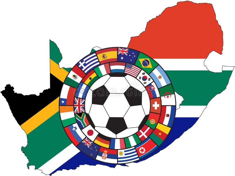 bollen flags fotbollvektorn