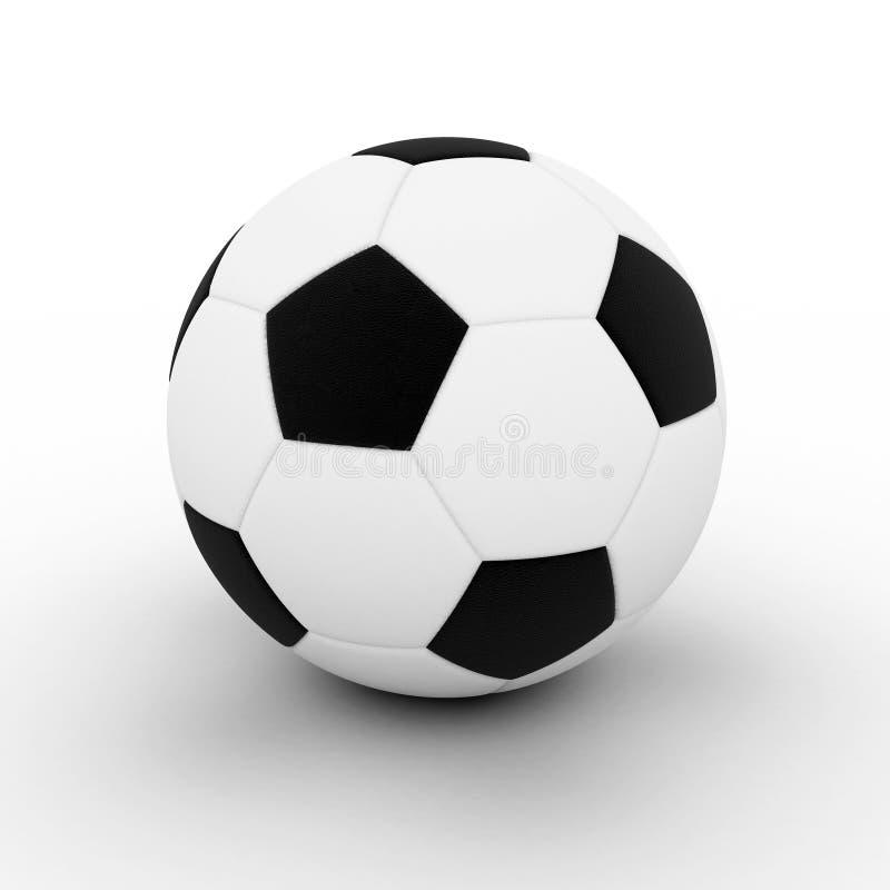 bollen framförde fotboll stock illustrationer