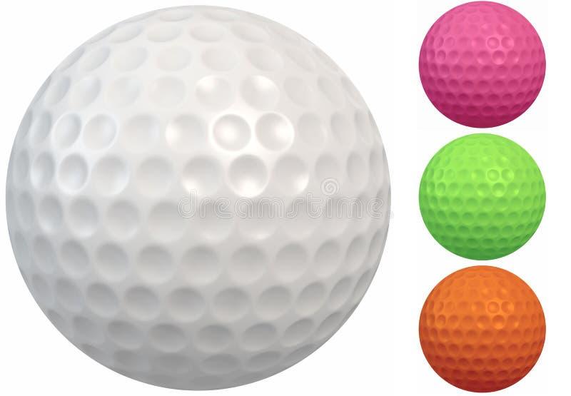 bollen görar gropar rund golf royaltyfri illustrationer