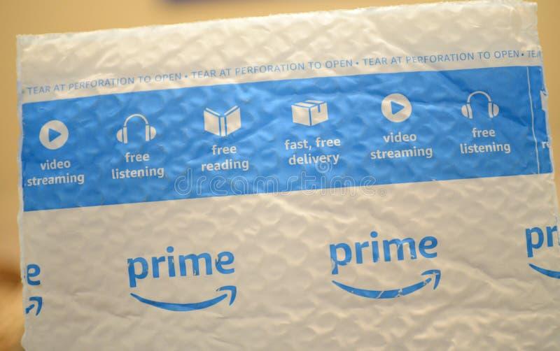 Bollettino veloce principale della bolla della nave di Amazon immagine stock