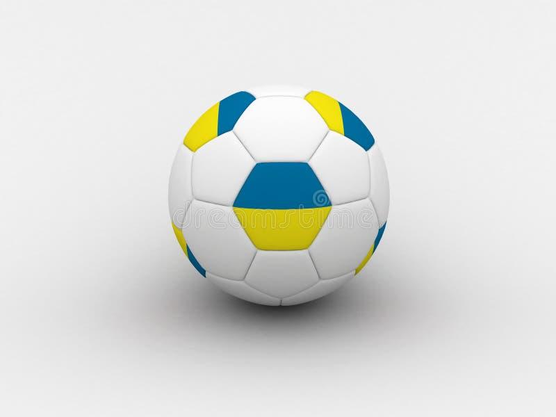 bollfotboll ukraine stock illustrationer