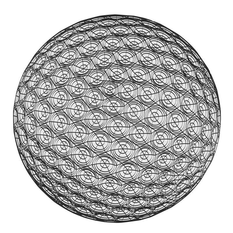 bollgolf som slår järnrörelse vektor illustrationer