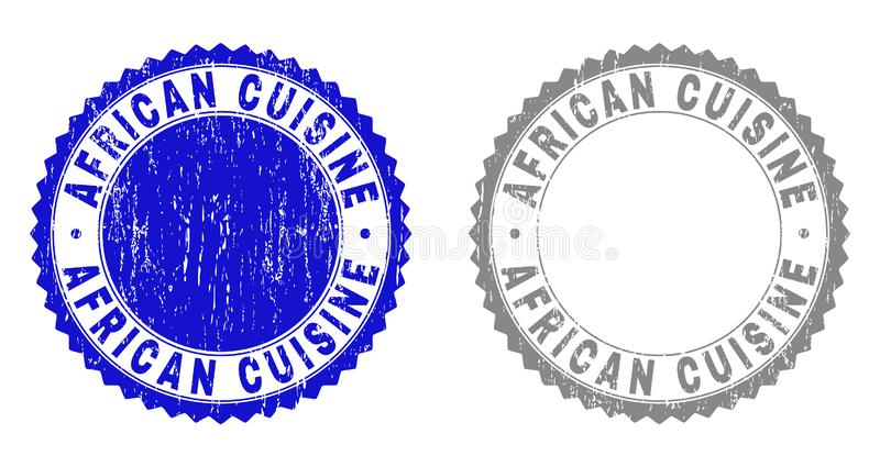 Bolli AFRICANI strutturati di lerciume di CUCINA con il nastro illustrazione di stock