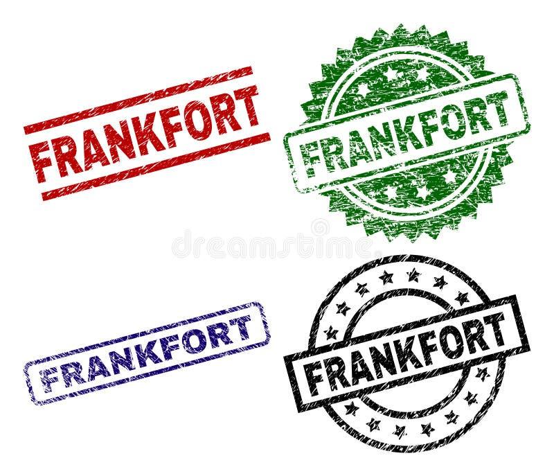 Bolli della guarnizione di FRANKFURTER strutturati lerciume illustrazione vettoriale
