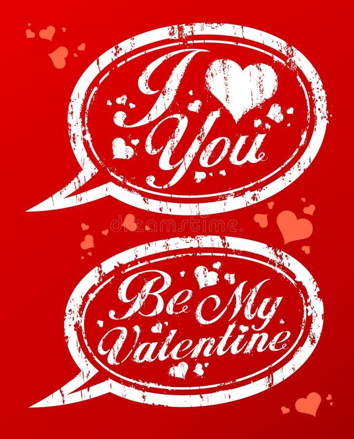Bolli di giorno del `s del biglietto di S. Valentino. royalty illustrazione gratis
