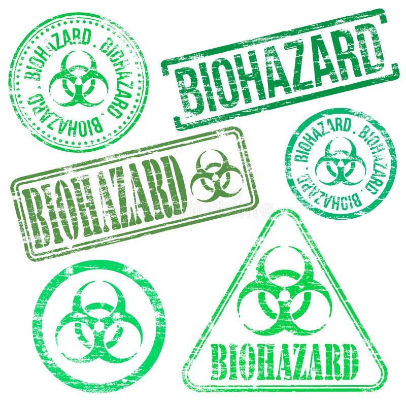 Bolli di rischio biologico illustrazione di stock