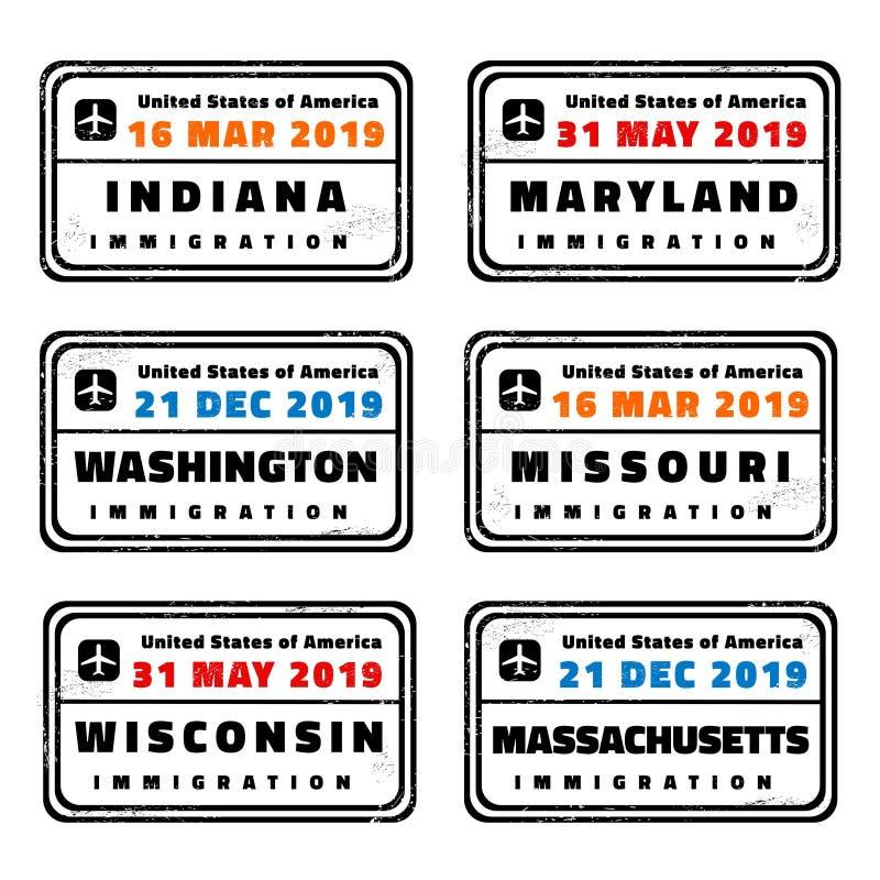 Bolli di vettore degli Stati Uniti royalty illustrazione gratis