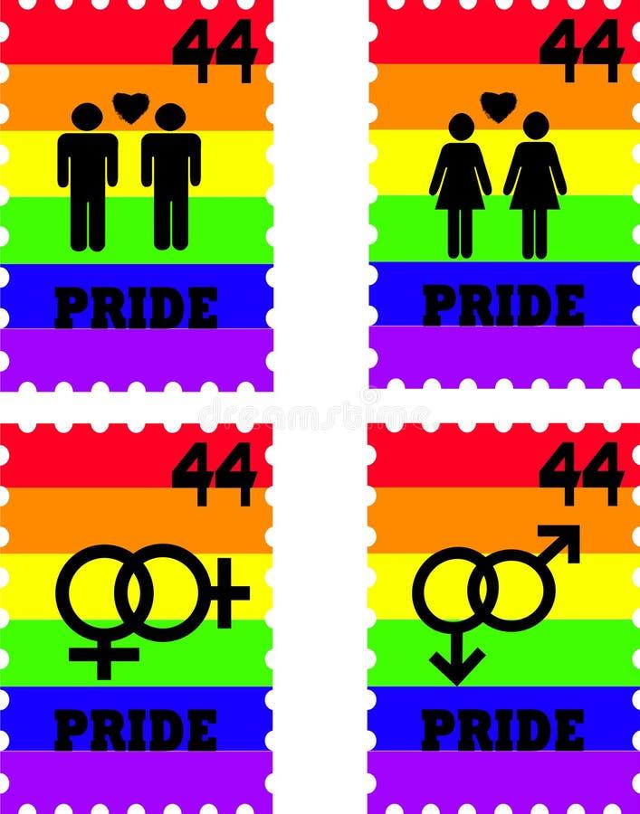Bolli gai di orgoglio illustrazione di stock