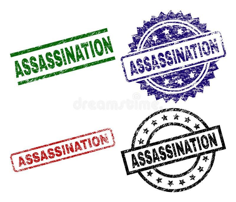 Bolli strutturati graffiati della guarnizione di ASSASSINIO royalty illustrazione gratis