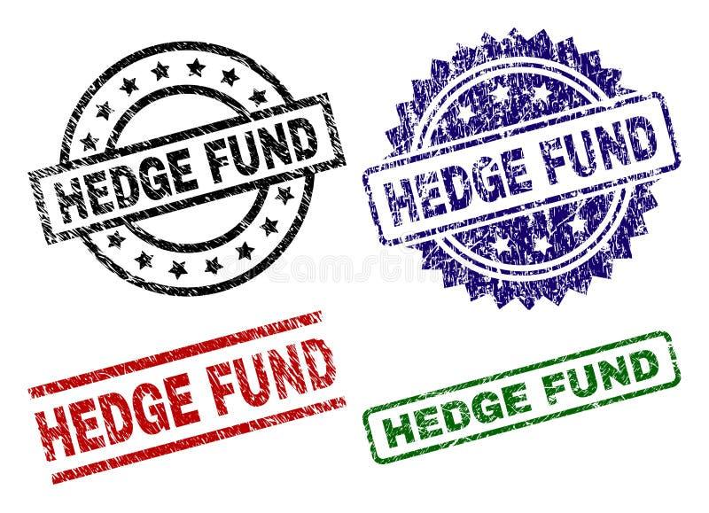 Bolli strutturati graffiati della guarnizione di HEDGE FUND illustrazione di stock