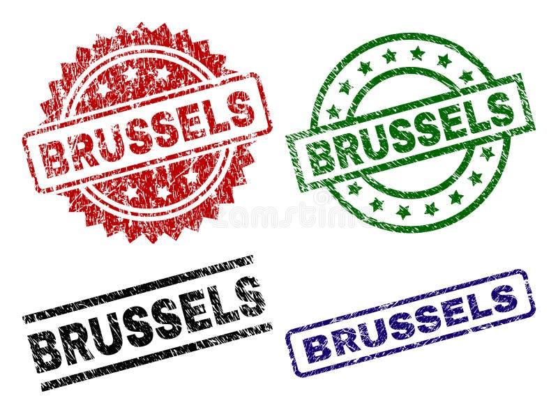 Bolli strutturati nocivi della guarnizione di BRUXELLES illustrazione vettoriale