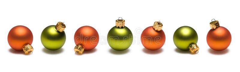 bollkantjulen green orangen fotografering för bildbyråer