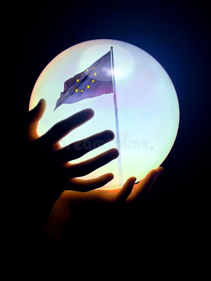 bollkristall Europa arkivfoton