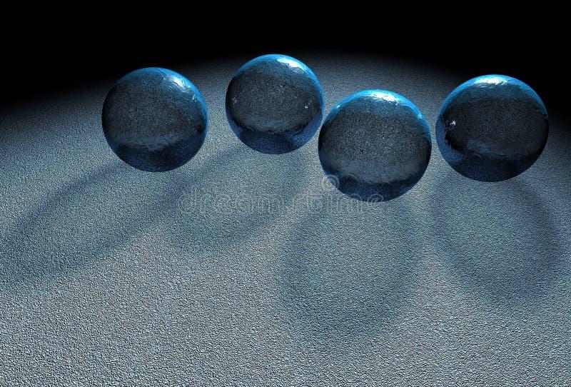 bollkristall fyra vektor illustrationer