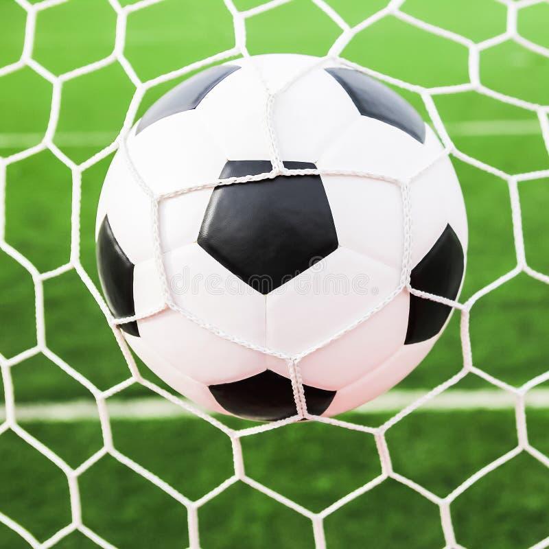 bollmålet förtjänar fotboll fotografering för bildbyråer