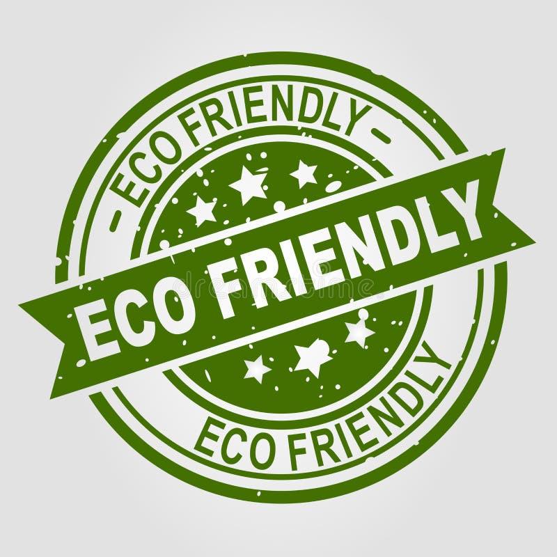 Bollo amichevole di vettore di Eco royalty illustrazione gratis