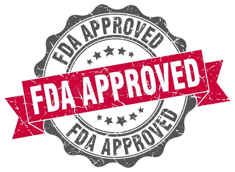 Bollo approvato dalla FDA illustrazione di stock