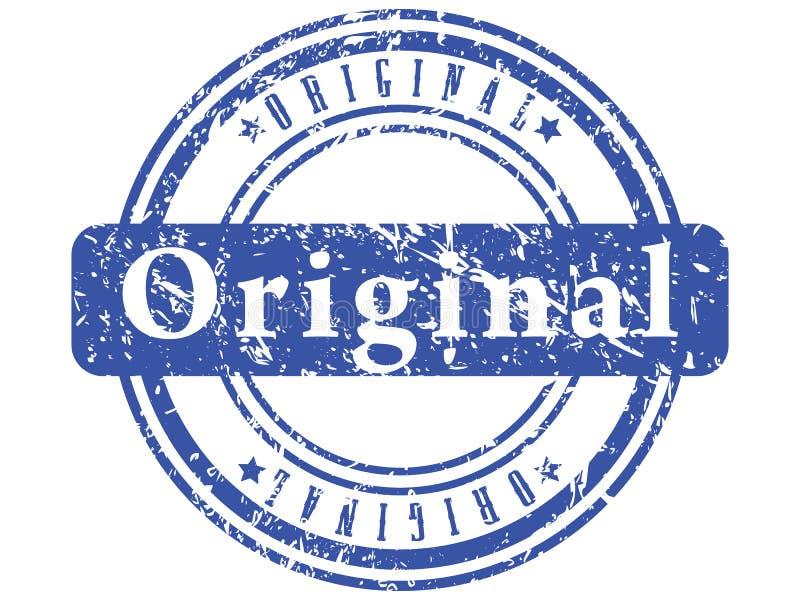 Bollo blu astratto del grunge. illustrazione vettoriale