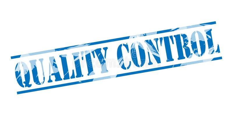 Bollo blu di controllo di qualità illustrazione di stock