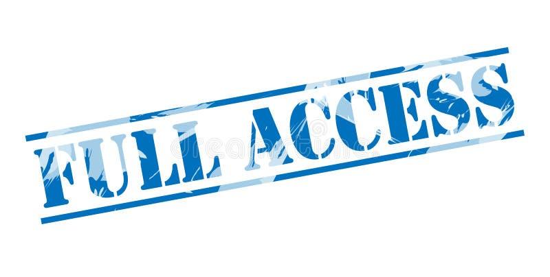 Bollo blu di pieno accesso illustrazione vettoriale