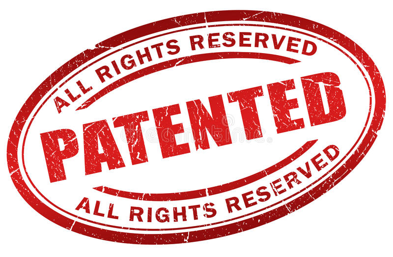 Bollo brevettato illustrazione di stock