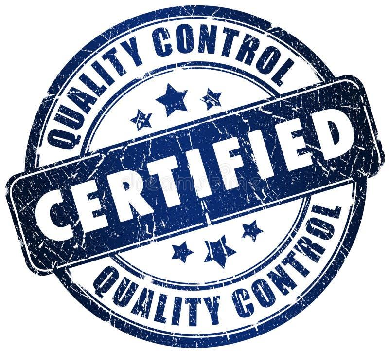 Bollo certificato illustrazione vettoriale