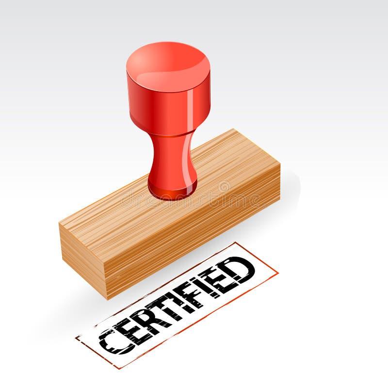 Bollo certificato illustrazione di stock