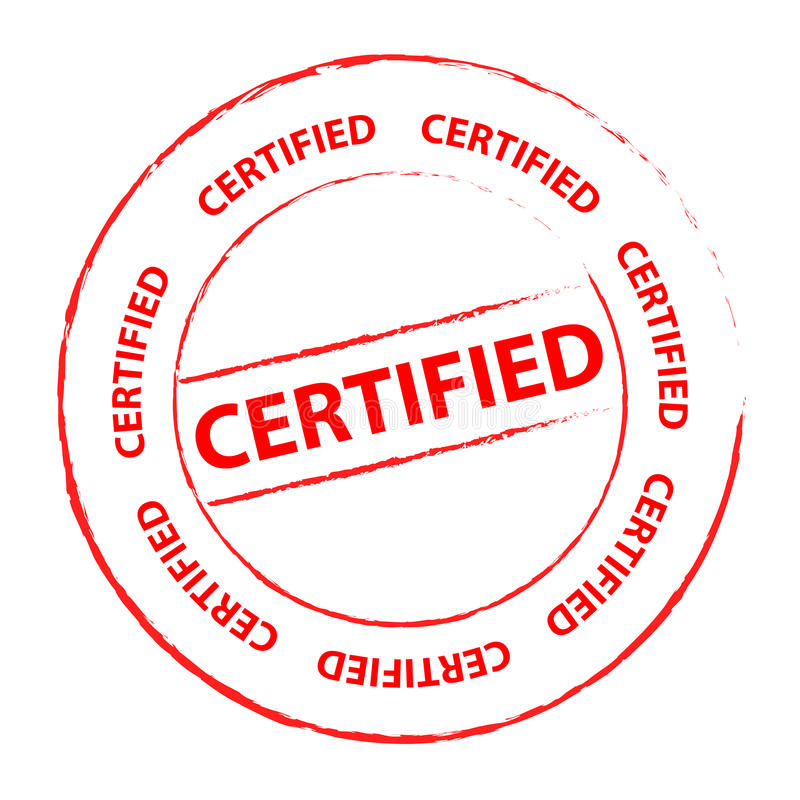 Bollo certificato royalty illustrazione gratis