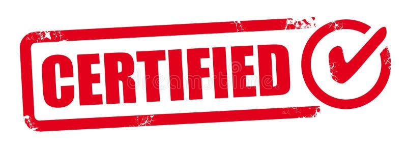 Bollo certificato vettore illustrazione di stock