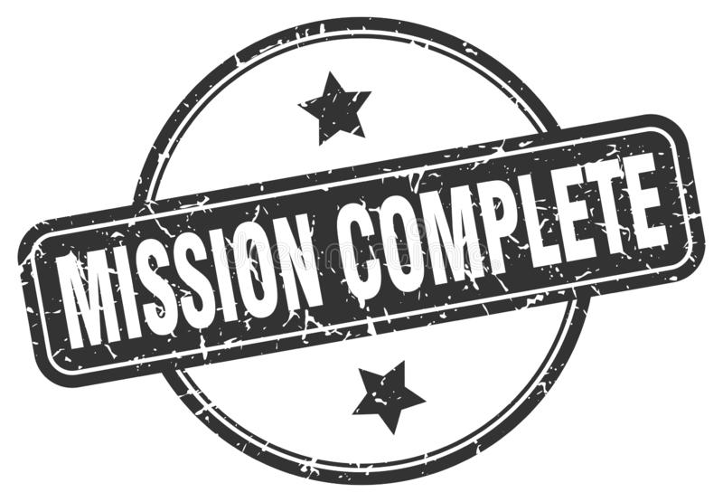 Bollo completo di missione illustrazione vettoriale
