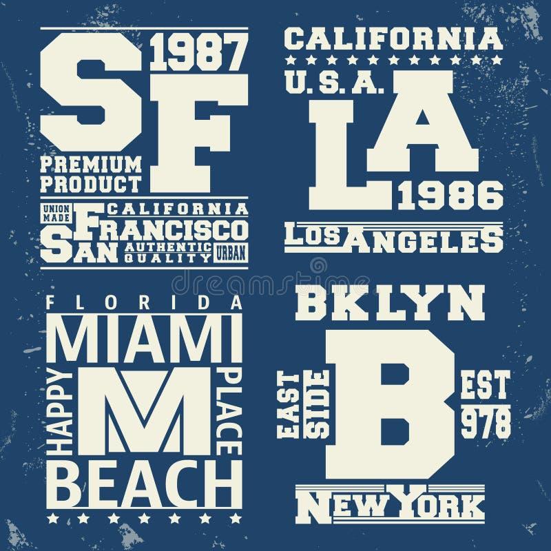 Bollo d'annata della città di U.S.A. illustrazione di stock