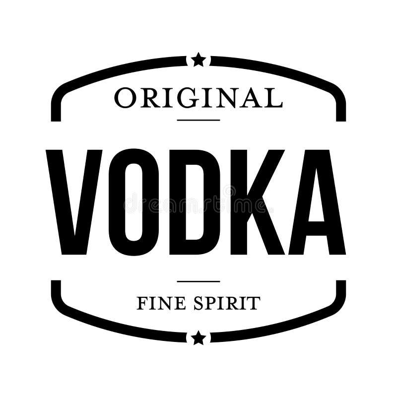 Bollo d'annata della vodka originale illustrazione di stock