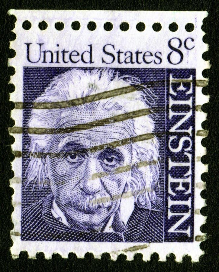 Bollo degli S.U.A. 8c Einstein fotografia stock