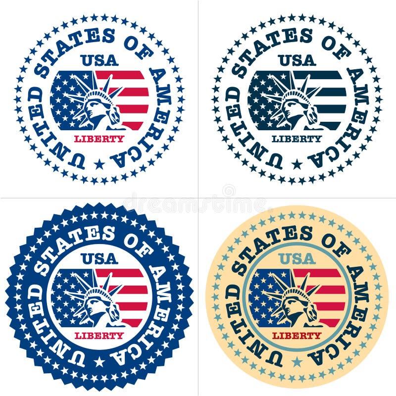 Bollo degli S.U.A., fatto negli S.U.A. illustrazione di stock