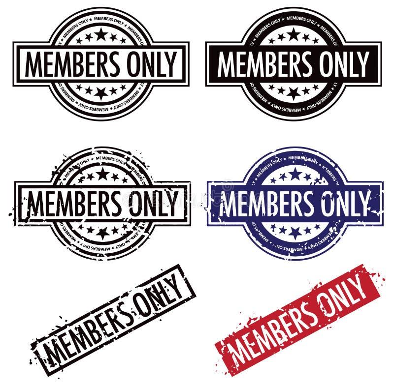 Bollo dei membri soltanto royalty illustrazione gratis