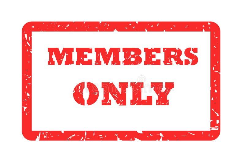 Bollo dei membri soltanto illustrazione vettoriale
