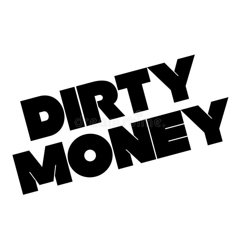 Bollo dei soldi sporchi su bianco illustrazione di stock