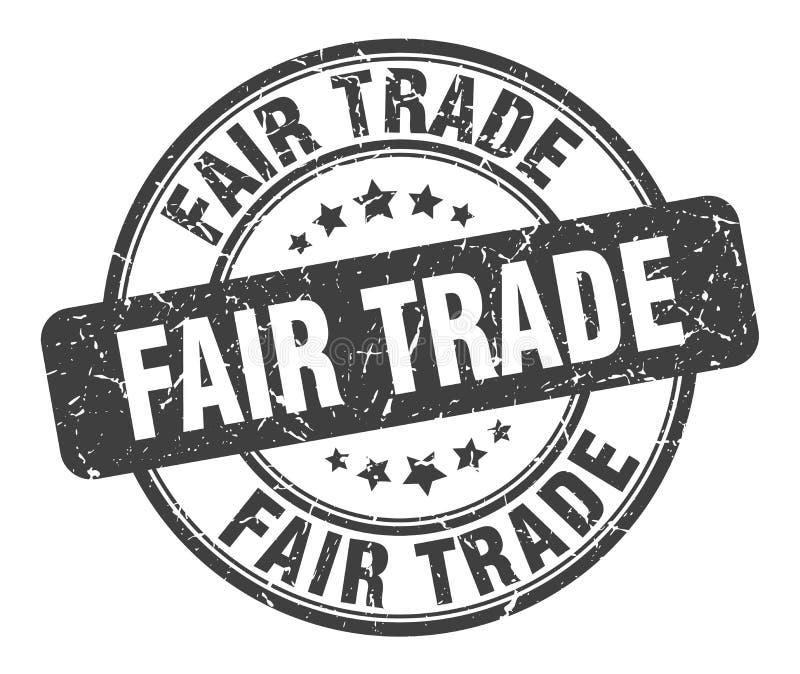 Bollo del commercio equo e solidale illustrazione di stock